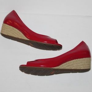 Cole Haan Red Red Patent leather Open Toe Women 6